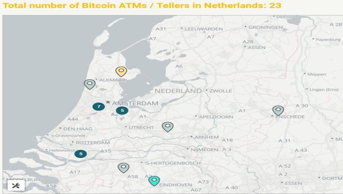 Bitcoin geldautomaten in Nederland