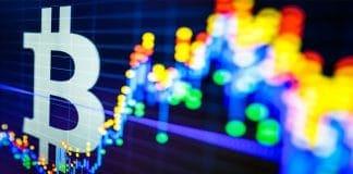 Bitcoin scherm grafiek stijging