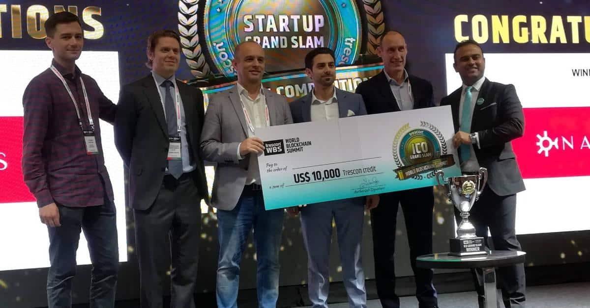 Prijsuitreiking ICO Grand Slam 2018 met winnaar Fernando Martinho namens NAORIS