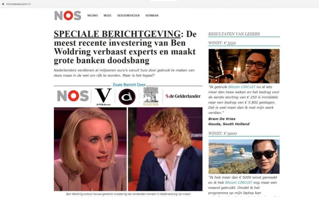 Bitcoin fraude begint met een advertentie. Deze keer is internetondernemer Ben Wolderink het slachtoffer.